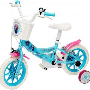 Bicicleta 12'' Frozen, Color Blanco y Azul Claro