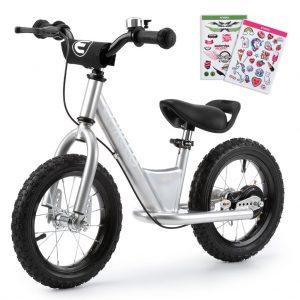 ENKEEO - 14'' Bicicleta sin Pedales Blanca