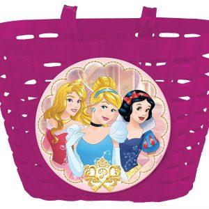 cesto para bicicleta infantil princesas rosa